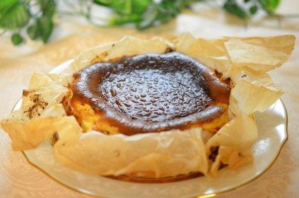 バスク風チーズケーキは混ぜるだけ!簡単おいしいヘルシーレシピ!