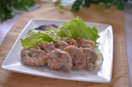 お肉がしっとり旨い!豚ヒレ肉の米油煮チーズ風味。冷めても美味!