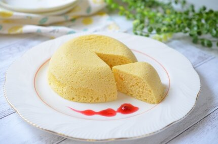 おからパウダーでチーズ蒸しケーキ!レンジで4分簡単レシピ