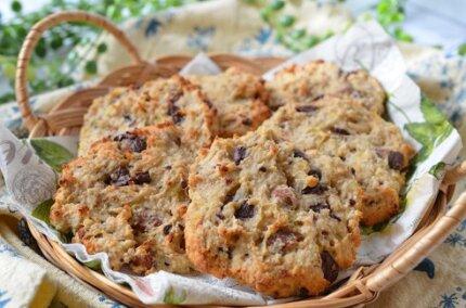 米粉とオートミールで「バナナとナッツのカントリークッキー」